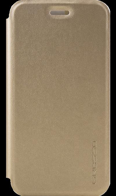 Чехол-книжка Gresso для Xiaomi Redmi 4x, кожзам, золотистый