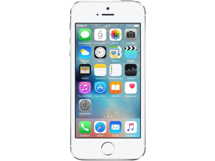 Смартфон Apple iPhone 5S 16GB Silver восстановленный (FF353RU/A)
