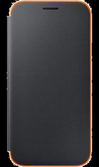 Чехол-книжка Samsung для Samsung Galaxy A3 (2017), полиуретан, черный