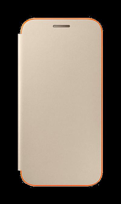 Чехол-книжка Samsung для Samsung Galaxy A3 (2017), полиуретан, золотистый