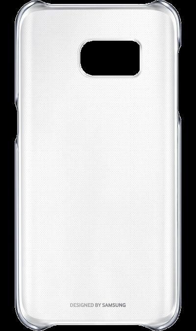 Чехол-крышка Samsung Clear Cover для Galaxy S7, поликарбонат, прозрачный (черная рамка)